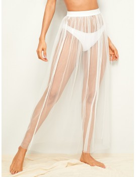 Mesh Cover Up Skirt Without Panty