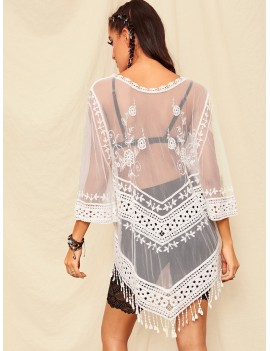 Fringe Hem Crochet Cover Up