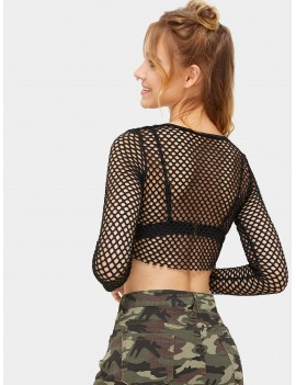 Fishnet Super Crop Top