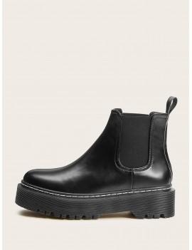 Flatform Lug Sole Chelsea Boots