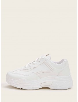 Lace Up Chunky Sole Trainers