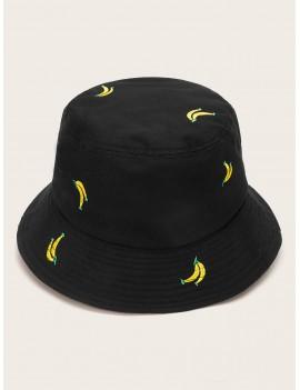 Banana Embroidery Bucket Hat