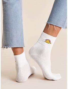 1pair Dinosaur Pattern Socks