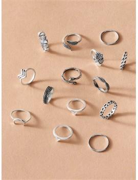 14pcs Skinny Ring Pack