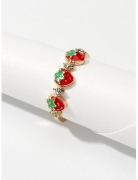 1pc Strawberry Cuff Ring