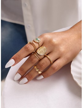 7pcs Rhinestone Ring Pack
