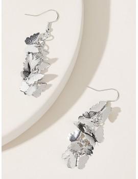 1pair Butterfly Cluster Drop Earrings