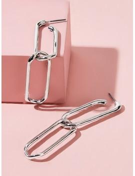 1pair Link Chain Drop Earrings