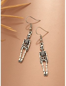 1pair Skull Drop Earrings
