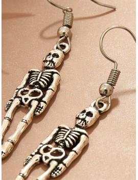 1pair Skull Drop Earrings