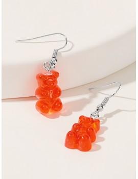 1pair Bear Drop Earrings