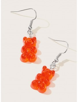 1pair Bear Drop Earrings