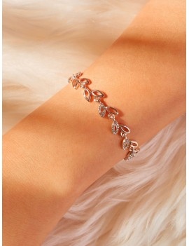 Leaf Design Link Bracelet 1pc