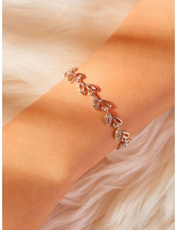 Leaf Design Link Bracelet 1pc