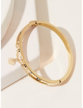Heart Decor Bracelet 1pc