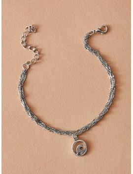 1pc Round Charm Chain Bracelet
