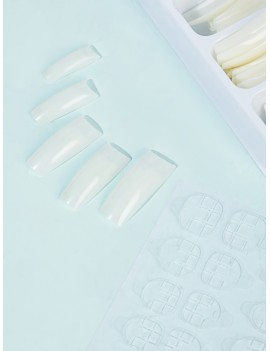 Clear Coffin Fake Nail 100pcs