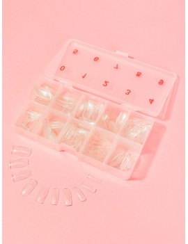 Clear Square False Nail 500pcs With Case