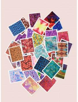 45pcs DIY Animal & Flower Pattern Nail Stickers