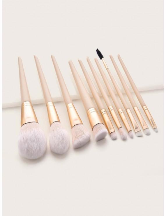 Duo Brow Makeup Brush 10pcs