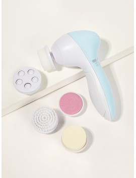 Multifunction Electronic Facial Cleansing Brush Set 6pack