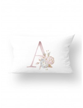 1pc Flower & Letter Graphic Cushion Cover