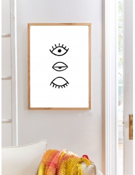 Abstract Eye Wall Print Without Frame