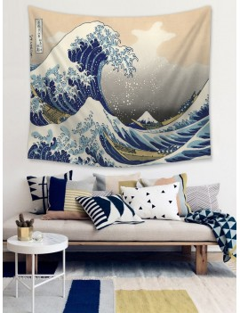 Huge Wave Pattern Tapestry