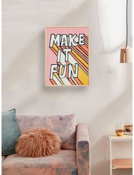 3D Slogan Wall Art Print Without Frame