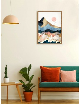 Abstract Sunrise Wall Art Print Without Frame