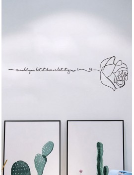 Abstract Rose & Letter Wall Sticker