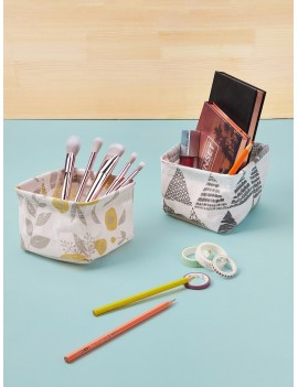 1pc Random Mini Fabric Storage Basket