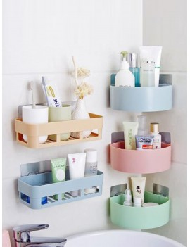 1pc Wall Mount Drain Storage Rack