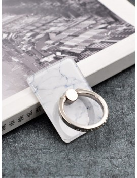 Marble Print Ring Phone Holder