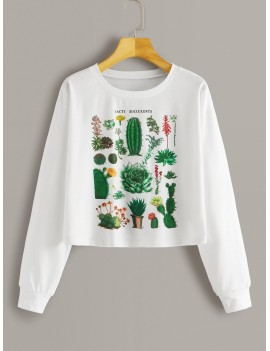 Cactus Print Long Sleeve Tee