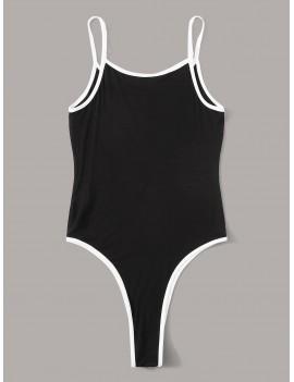 Heart Print Ringer Bodysuit