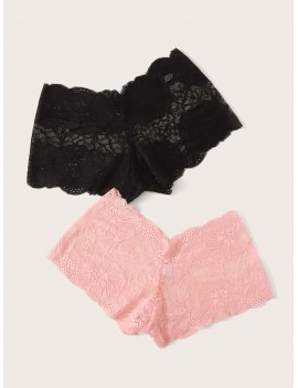 2pack Floral Lace Panty Set