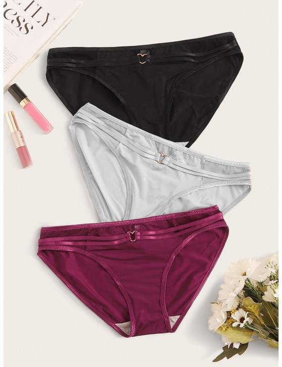 3pack Heart Linked Panty Set