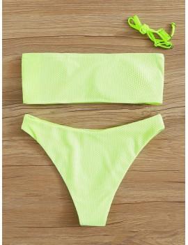 Fishnet Overall Bandeau With High Cut Bikini